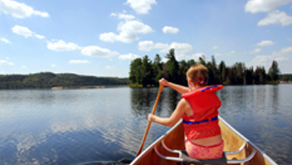 River View Resort - Canoeing on the Androscoggin River